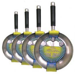 12 of Polished Aluminum Fry Pans Four Sizes