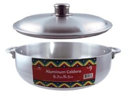 10 of Polished Aluminum Caldero Pots