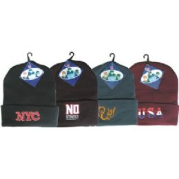 144 of Winter Ski Hat With Embroidered Designs