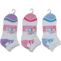 72 of 3 Pack Of Girls Ankle Sock Size 6-8