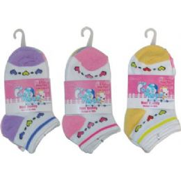 72 of 3 Pack Of Girls Ankle Sock Size 4-6