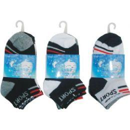 72 of 3 Pack Boys Sport Sock Size 4-6