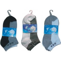72 of 3 Pair Solid Ankle Sock For Kids Size 4-6