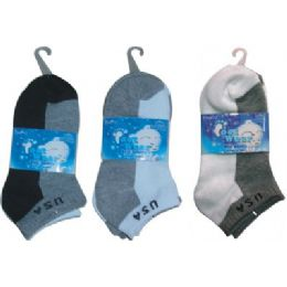 72 of 3 Pair Solid Ankle Sock For Kids Size 6-8