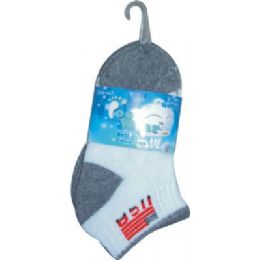72 of 3 Pair Solid Cotton Ankle Sock For Kids Size 4-6 Usa