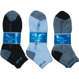 144 of 2 Pair Pack Mens Ankle Sock Size 9-11