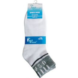 96 of 3 Pair Pack Men Usa Ankle Sock