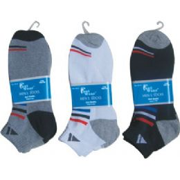 144 of Mens 2 Pair Ankle Sport Ankle Sock Size 10-13