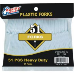 48 of 51 Piece Plastic Fork