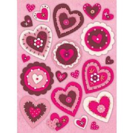 144 of Heart Window Cling Stickers