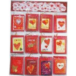 120 of Valentines Gift Card 5x4inch With Envelope On Display