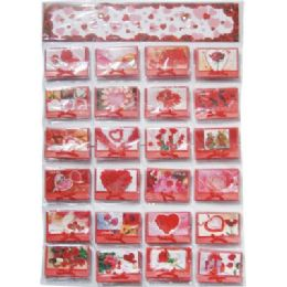 120 of Valentines Gift Card 3.5x4inch With Envelope On Display