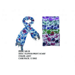72 of Womans Fashion Scarf Floral
