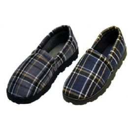 36 of Plaid Rubber Bottom Slippers