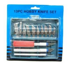 72 of Hobby Knife Set 13 Pc In Case