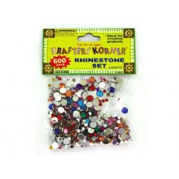 75 of 600 Piece Rhinestone Set (assorted Colors)