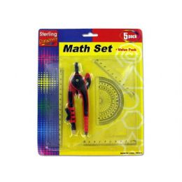 72 of 5 Piece Math Ruler Set