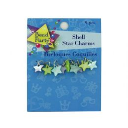 144 of Pastel Shell Star Charms, Pack Of 9