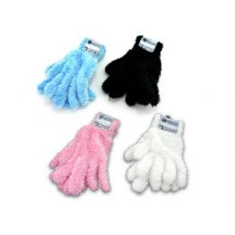 36 of Adult Feather Gloves Assorted Colors