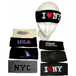144 of Assorted Winter Headbands For Adults