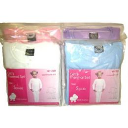 48 of Girls Thermal Underwear Sets