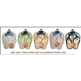 72 of Girls Bamboo Flip Flop With Tropical Tree