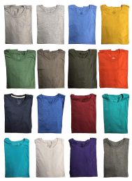 180 of Mens Cotton Crew Neck Short Sleeve T-Shirts Mix Colors, Large