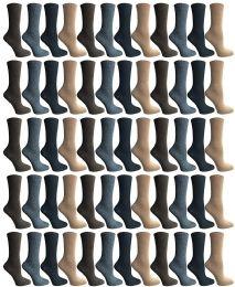60 of Socksnbulk Womens Dress Crew Socks, Bulk Pack Assorted Chic Socks Size 9-11