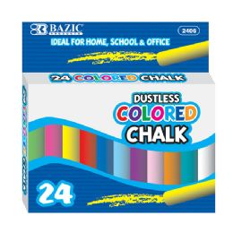 24 of Dustless Assorted Color Chalk (24/box)