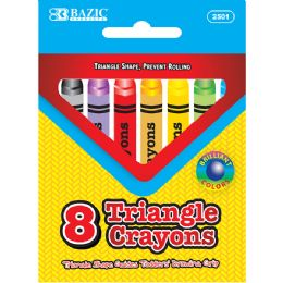 24 of 8 Color Super Jumbo Triangle Crayon