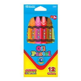 12 of Jumbo Oil Color Pastel 12 Pack
