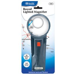 "24 of 2.5"" Round 3x Lighted Magnifier"
