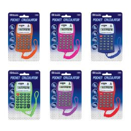 48 of 8-Digit Pocket Size Calculator W/ Neck String