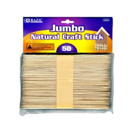24 of Jumbo Natural Wooden Craft Stick 50 Pack