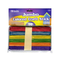 24 of Jumbo Colored Wooden Craft Stick 50 Pack