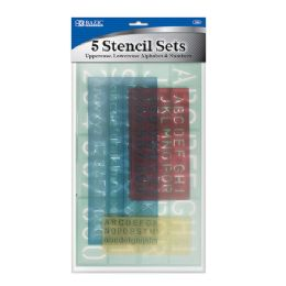 24 of 4 Pack Lettering Stencil Sets