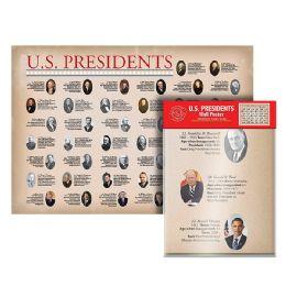 24 of Folded U.s. Presidents Wall Map