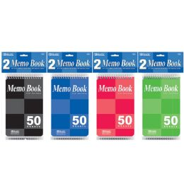 "24 of 50 Ct. 4"" X 6"" Top Bound Spiral Memo Books (2/pack)"