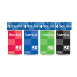 "24 of 50 Ct. 3"" X 5"" Top Bound Spiral Memo Books (4/pack)"