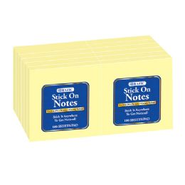"12 of 100 Ct. 3"" X 3"" Yellow Stick On Notes (12/shrink)"