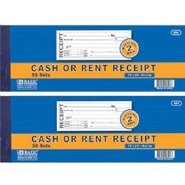 24 of 50 Sets 2-Part Cash Or Rent Receipt W/ Carbon