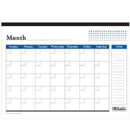 48 of Undated 12-Months Desk Pad Calendar