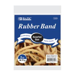 36 of 2 Oz./ 56.70 G Assorted Sizes Rubber Bands