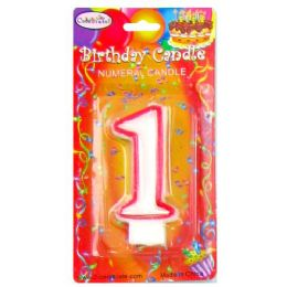 144 of B-Day Candle Red Numeral #1