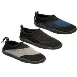 24 of Mens Water Shoes Blck, Navy, Taupe Size 7 - 12