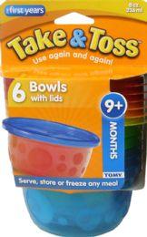 6 of Bowl Take Toss 8Oz W/Lid 6Pk