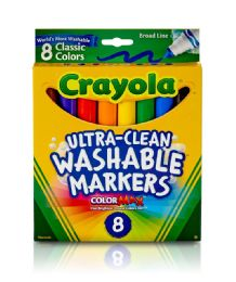 12 of Crayola Ultra-Clean Color Max Washable Markers 8 Count