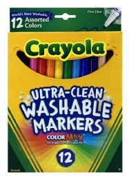 6 of Crayola Ultra-Clean Washable Markers 12