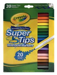 12 of Crayola Super Tips Washable Markers 20 Ct