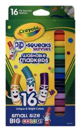 12 of Crayola Pip-Squeaks Skinnies Washable Markers 16